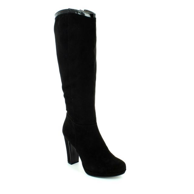 Tamaris Carralong 25527-001 Black suede long boots