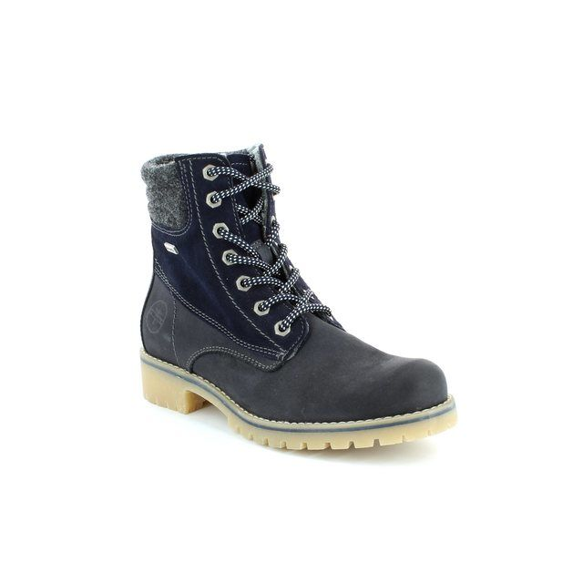 Tamaris Walking Boots - Navy - 25250/890 CASTER TEX