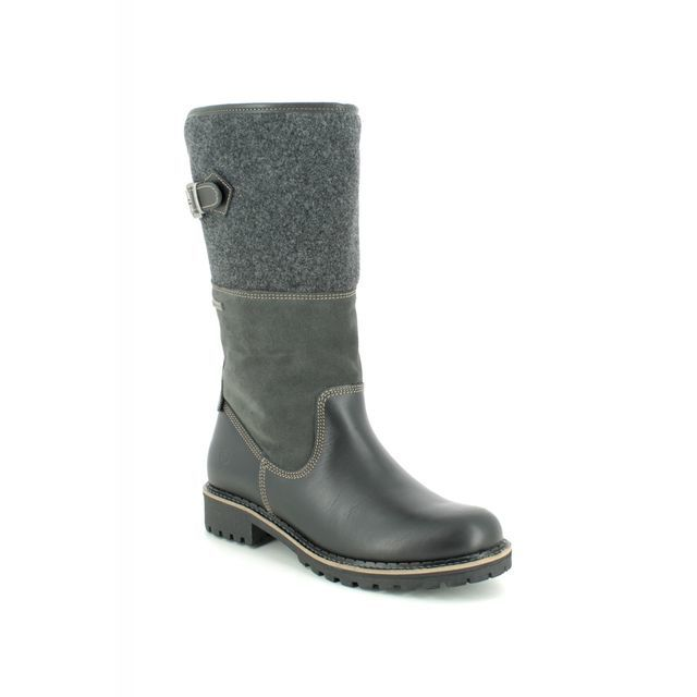 Tamaris Knee-high Boots - Black leather - 26432/23/098 CASTLE TEX 95