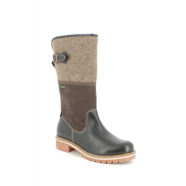 Tamaris Knee-high Boots - Brown leather - 26432/23/303 CASTLE TEX 95