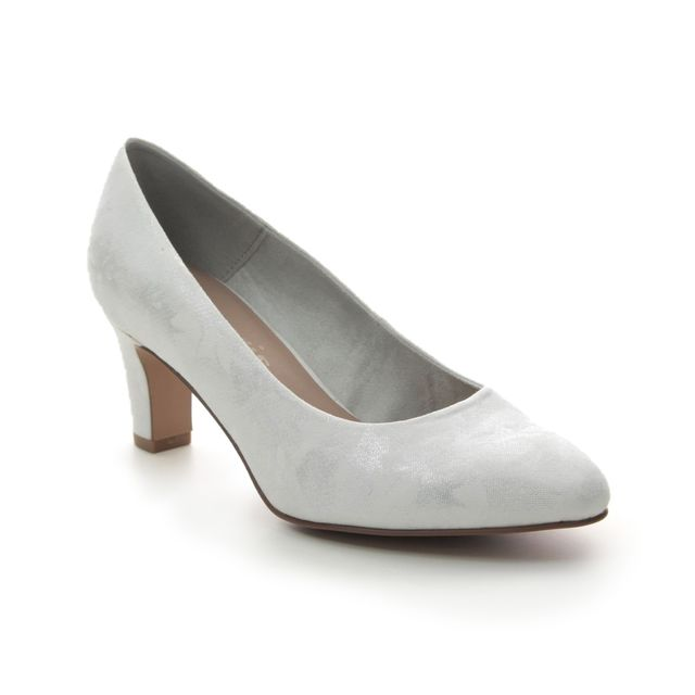 Tamaris Heeled Shoes - White-silver - 22418/24/106 CAXIAS 01
