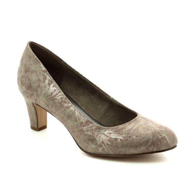 Tamaris Caxias 22418-350 Taupe multi high-heeled shoes