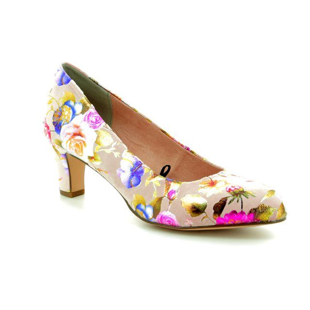 Tamaris High-heeled Shoes - Floral print - 22418/20/584 CAXIAS 81