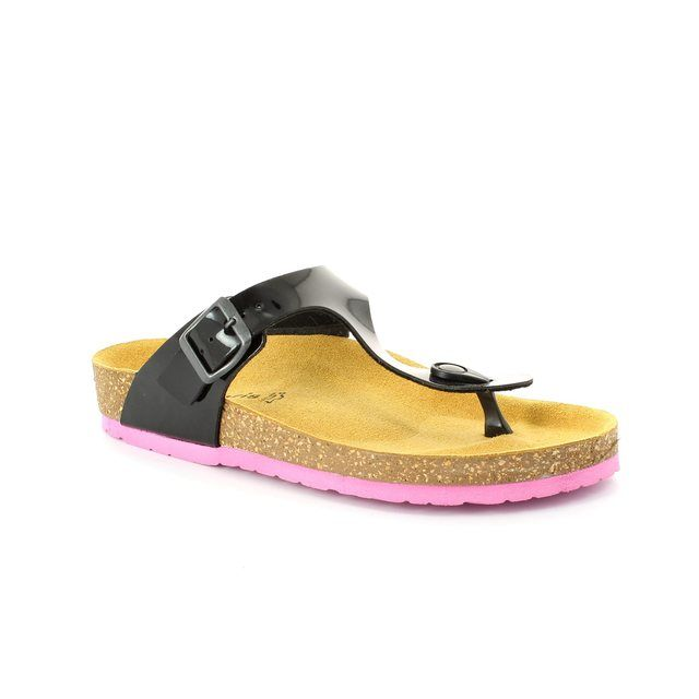 Tamaris Sandals - Black patent - 27106/053 CHARLENE