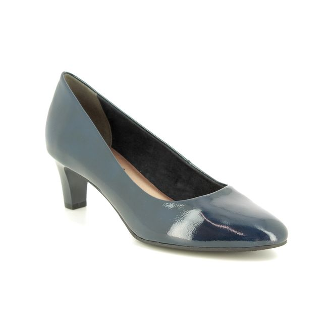Tamaris Heeled Shoes - Navy patent - 22493/21/826 CONSTANCE