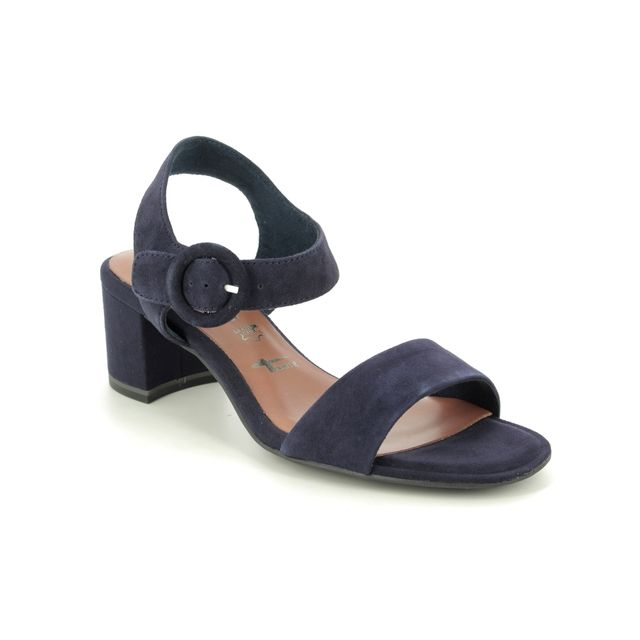 Tamaris Heeled Sandals - Navy Suede - 28324/24/805 DESIE
