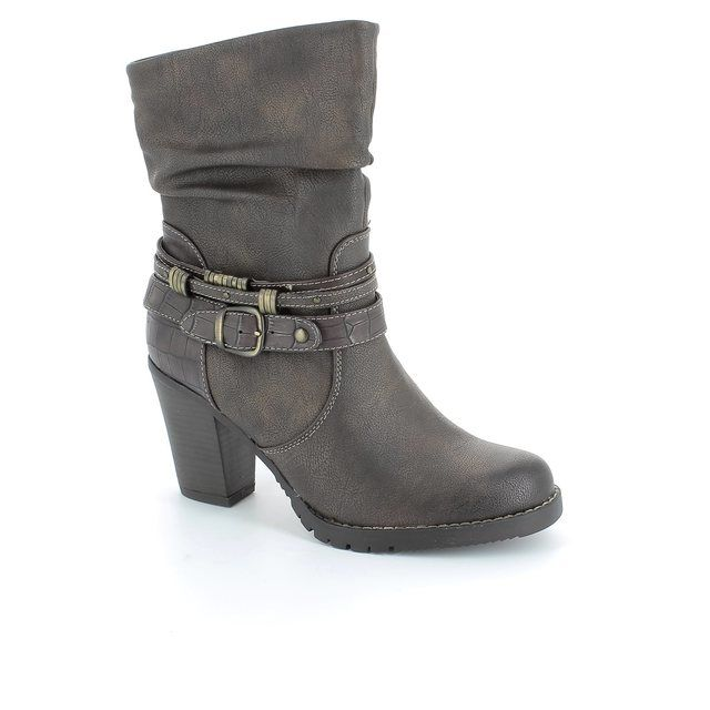 Tamaris Dodash 25025-314 Brown multi ankle boots