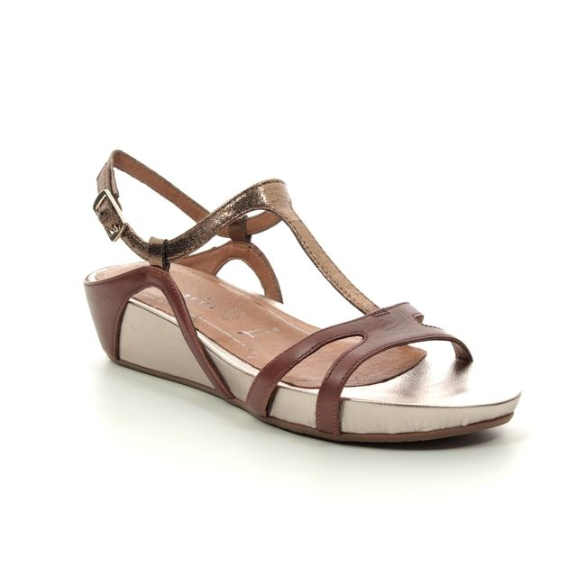 Tamaris Wedge Sandals - Tan - 28242/22/441 EDA