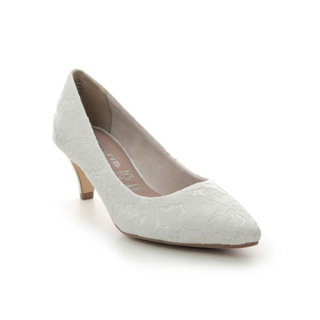 Tamaris Heeled Shoes - Ivory - 22415/24/474 FATSA 01