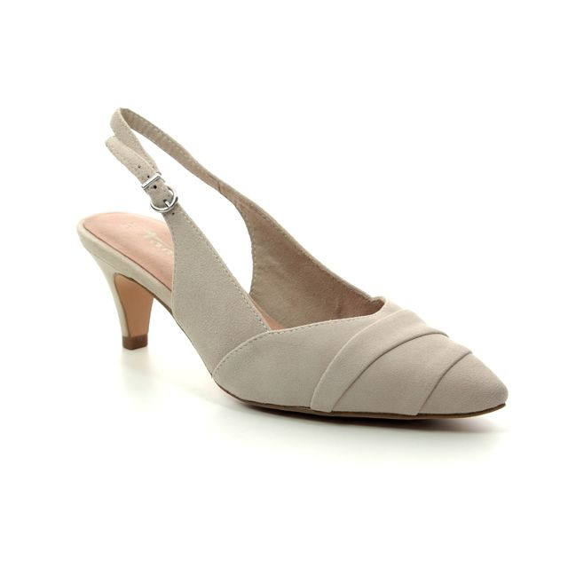 Tamaris Slingback Shoes - Beige suede - 29616/32/375 FATSIA SLING
