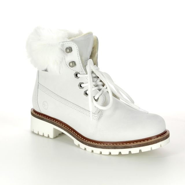 Tamaris Ankle Boots - WHITE LEATHER - 26294/21/130 FITEFUR TEX 85
