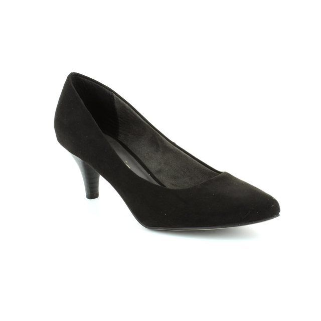 Tamaris Freedom 22415-007 Black suede or snake high-heeled shoes