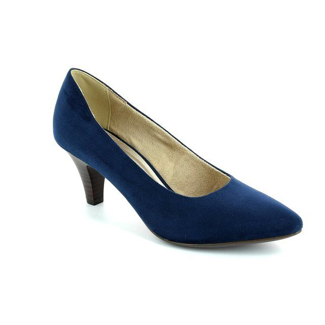 Tamaris Freedom 61 22415-806 Navy suede high-heeled shoes
