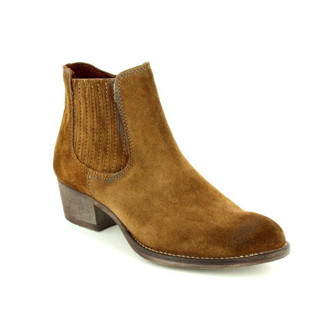 Tamaris Fashion Ankle Boots - Brown Suede - 25341/319 GENOVA