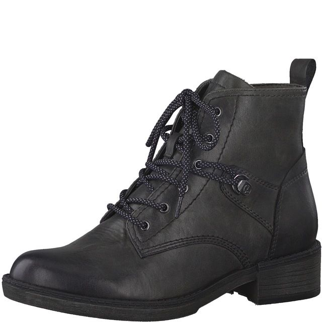 Tamaris Lace Up Boots - Dark Grey - 25116/25/206 HAYDENLACE