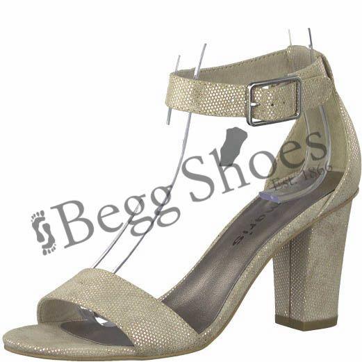 Tamaris Heiti 28397-20-454 Ivory Heeled Sandals