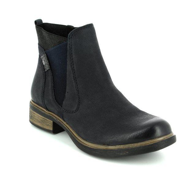 Tamaris Helioband 25317-829 Navy Chelsea Boots