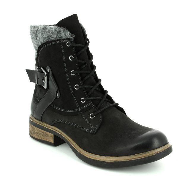 2b4d3168e29 Lotus Aggy Black ankle boots
