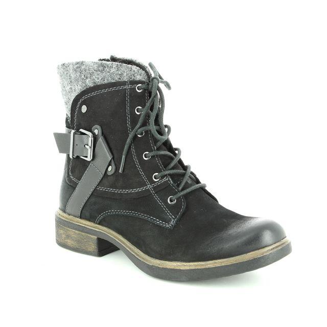 Tamaris Fashion Ankle Boots - Black leather - 25101/21/001 HELIOLACE 85