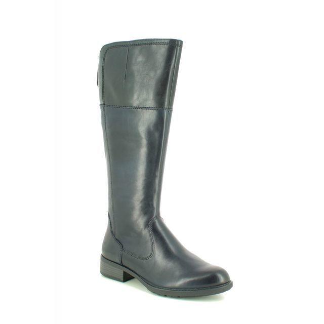 Tamaris Knee-high Boots - Navy Leather - 25508/23/866 INDAH