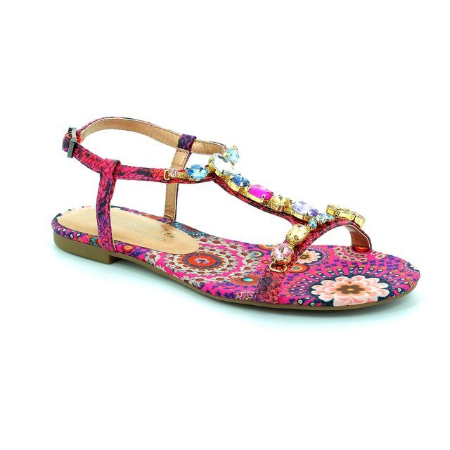 Tamaris Irene 28109-923 Pink multi sandals