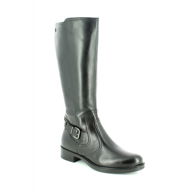 Tamaris Knee-high Boots - Black leather - 25544/21/001 JESSY  RIDING