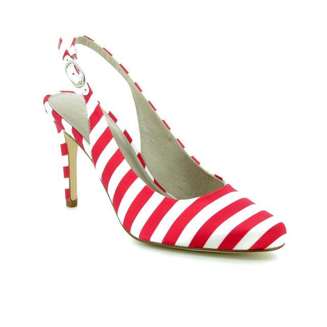 Tamaris High-heeled Shoes - White-red combi - 29614/30/692 JOLIE