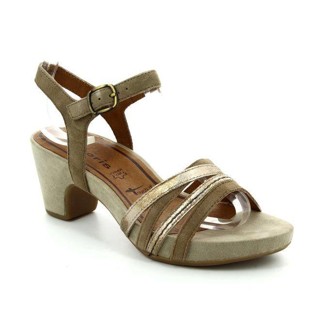 Tamaris Heeled Sandals - Taupe multi - 28328/301 JULES