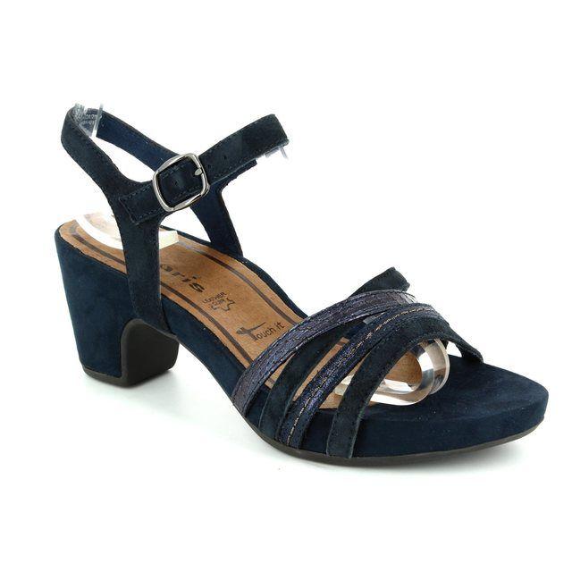 Tamaris Heeled Sandals - Navy multi - 28328/890 JULES
