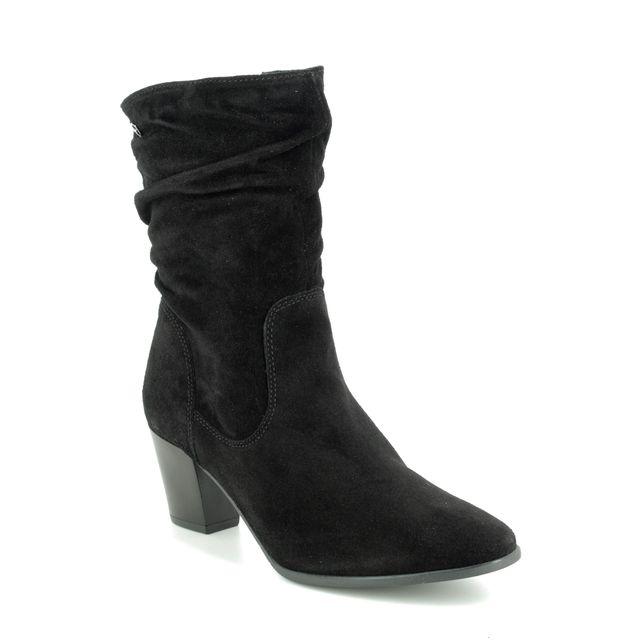 Tamaris Ankle Boots - Black Suede - 25740/23/001 JUNA