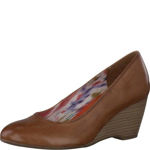 Tamaris Kribi 22422-440 Tan heeled shoes