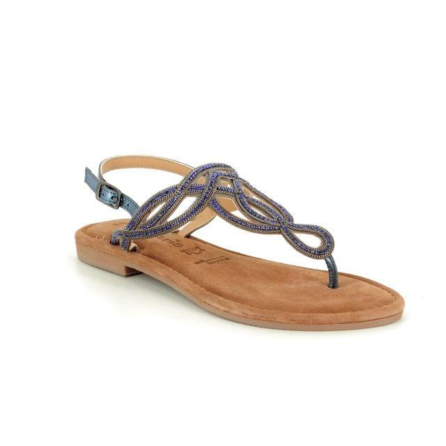 Tamaris Flat Sandals - Navy Leather - 28115/22/884 LENA