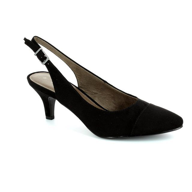 Tamaris High-heeled Shoes - Black suede - 29602/007 LEXIA