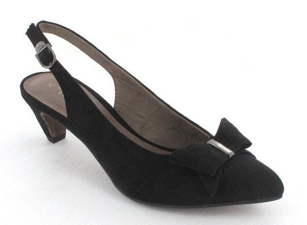Tamaris Lexis 29500-001 Black high-heeled shoes