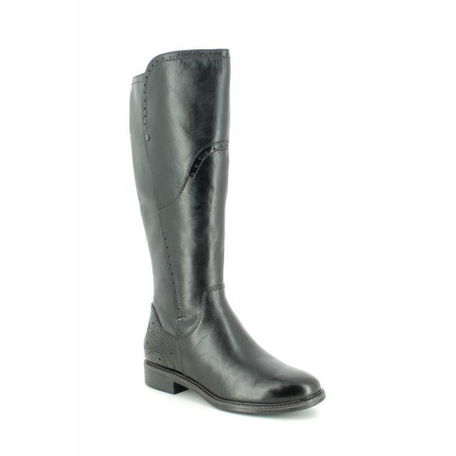Tamaris Knee-high Boots - Black leather - 25539/23/001 LILLIT