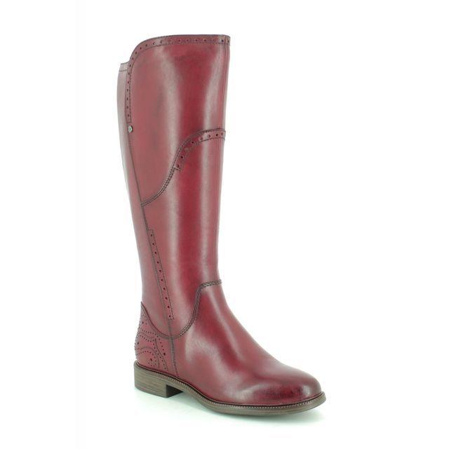Tamaris Knee-high Boots - Wine leather - 25539/23/536 LILLIT
