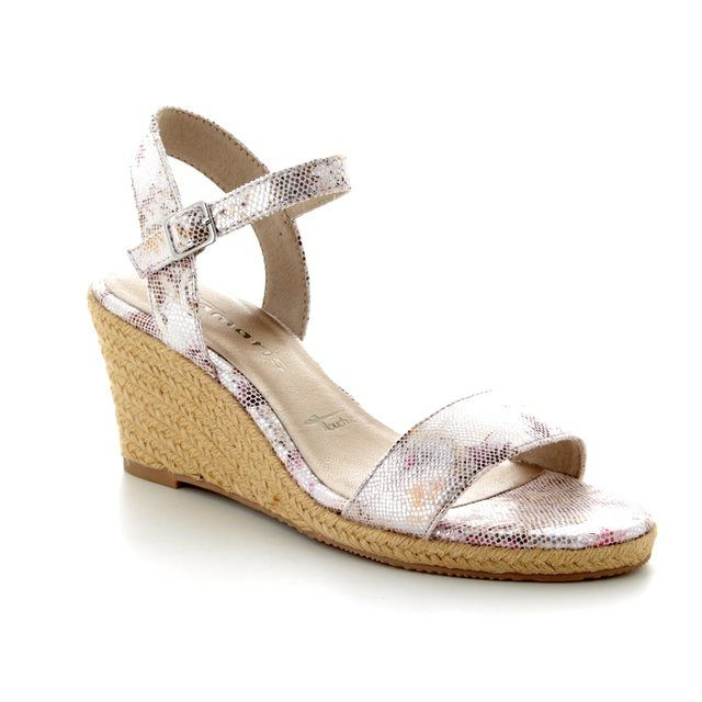 Tamaris Wedge Sandals - Floral print - 28300/20/584 LIVIA
