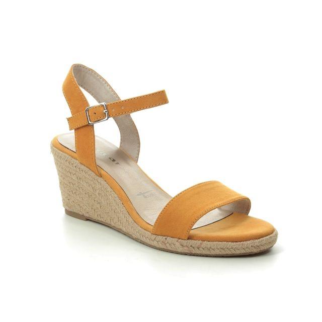 Tamaris Livia 91 28300-24-684 Yellow Wedge Sandals