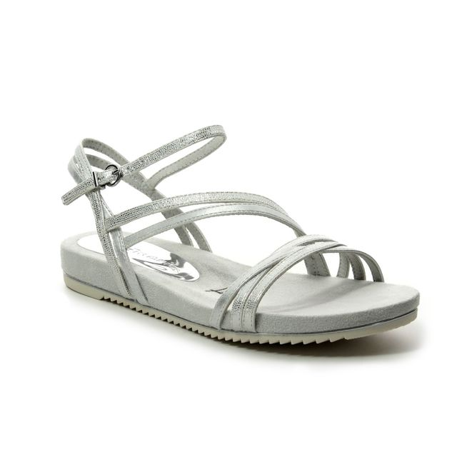 Tamaris Flat Sandals - Silver - 28112/22/106 LOCUSTS
