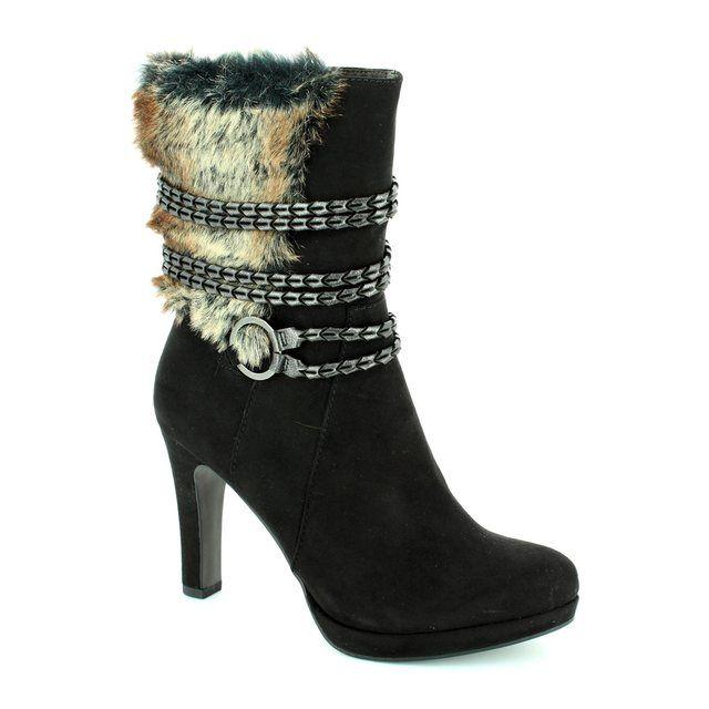 Tamaris Lycorfur 25314-001 Black ankle boots