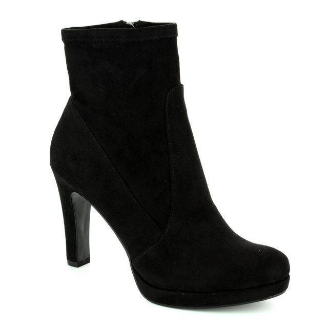 Tamaris Ankle Boots - Black suede or snake - 25365/001 LYCROBLING