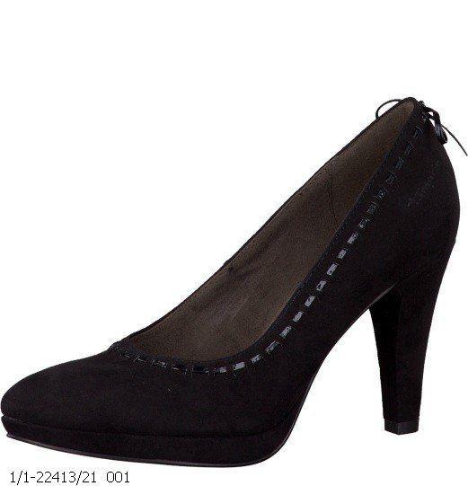 Tamaris Malber 22413-001 Black heeled shoes