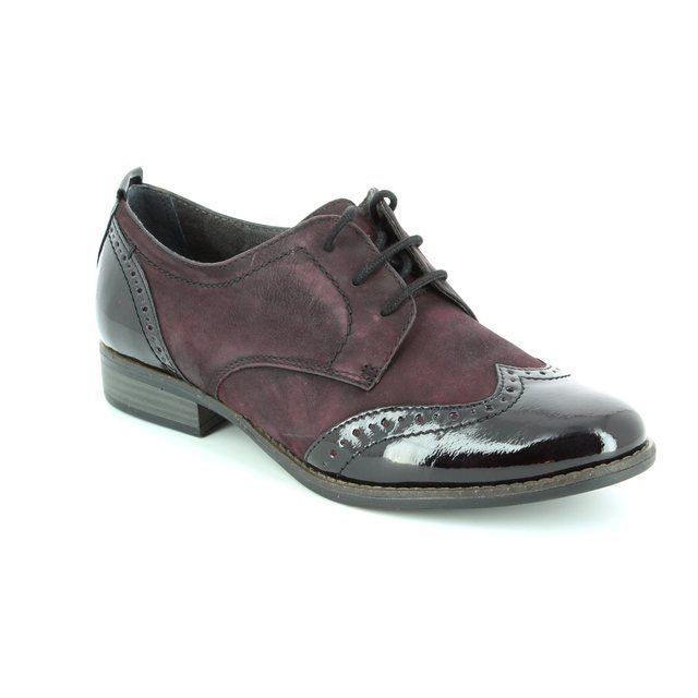Tamaris Malika 23202-549 Aubergine lacing shoes