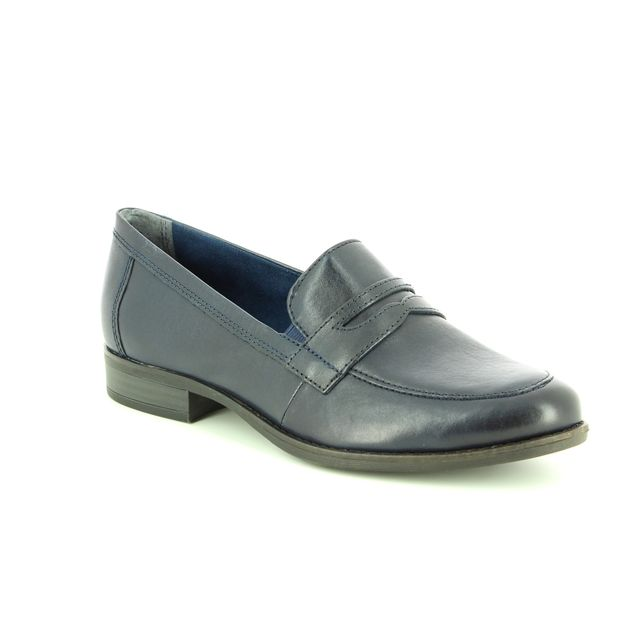 Tamaris Malimocc 24215-21-805 Navy leather loafers
