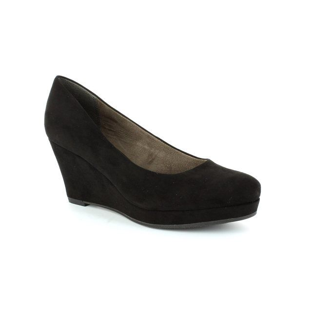 Tamaris Metis 22449-001 Black heeled shoes