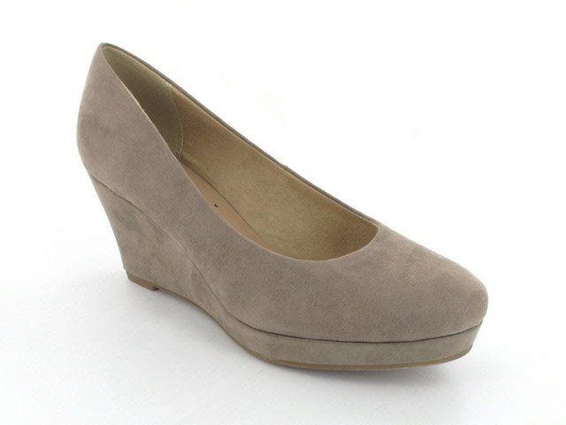 Tamaris Wedge Shoes - Taupe - 22449/324 METIS