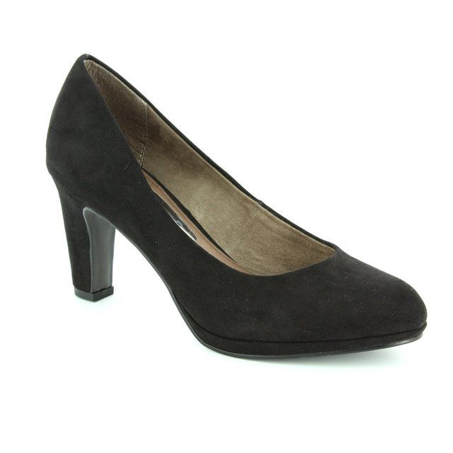 Tamaris Moffen Canaco 22420-001 Black high-heeled shoes