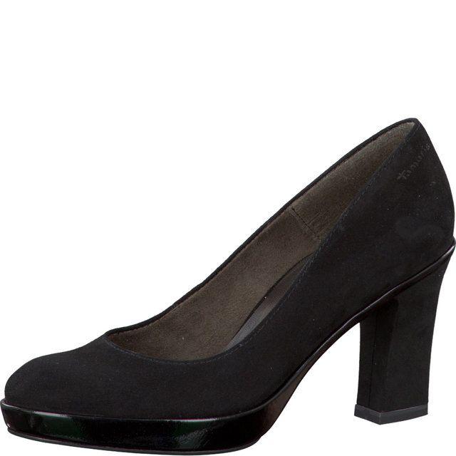 Tamaris Nastia 22441-017 Black patent heeled shoes
