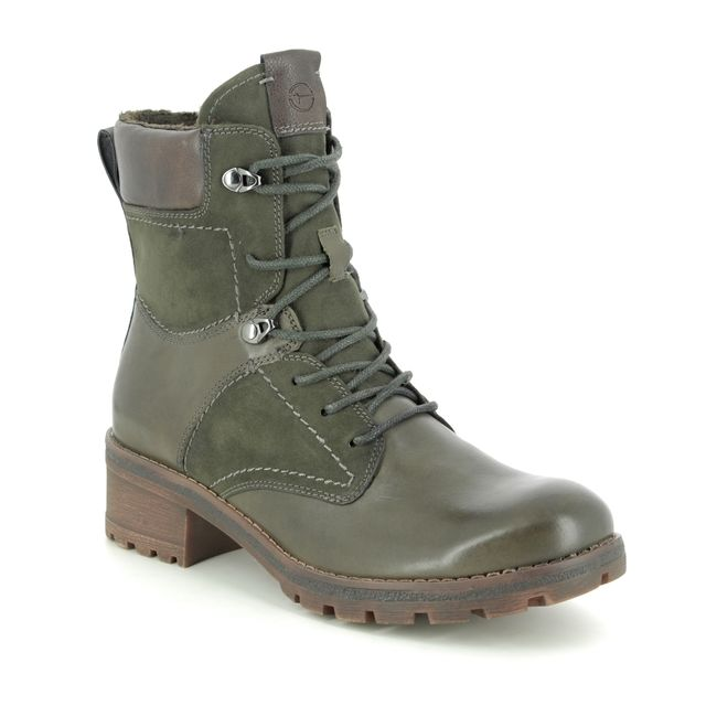 Tamaris Ankle Boots - Olive leather - 25241/23/722 NATALE