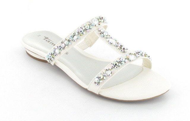 Tamaris Nigra 27191-100 White sandals